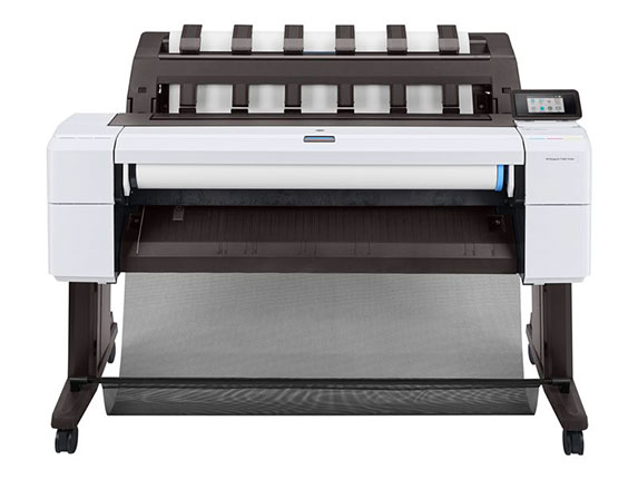 Vue de face imprimante grand format HP DesignJet T1600 36-in Printer